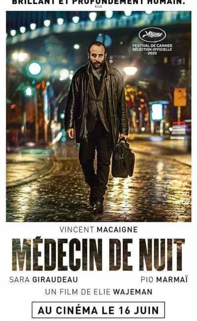 Médecin de nuit, affiche portrait du film d'Elie Wajeman