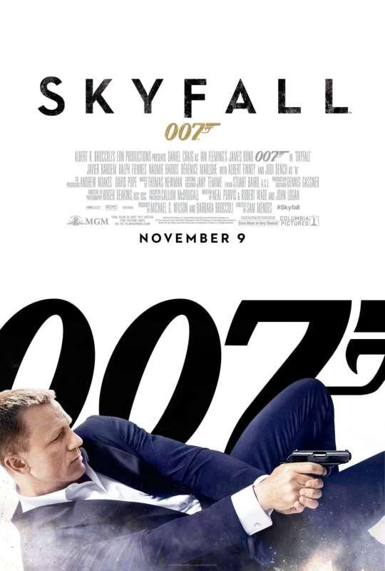 Skyfall, affiche américaine