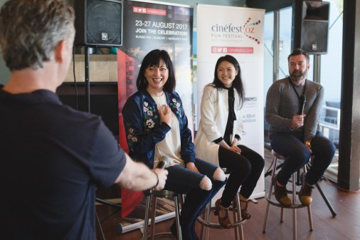 Australia Day In Conversation - Photography by Daniel Grant - Tracey Robertson, Jenny Wu, Nathan Mayfield