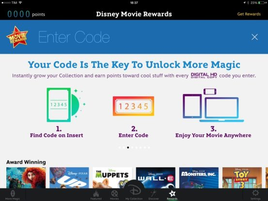 Disney movies anywhere riscatto film