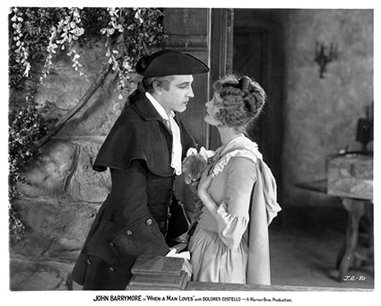 John Barrymore, Dolores Costello in WHEN A MAN LOVES (Per amore di una donna) di Alan Crosland (US 1927). Credits: George Eastman House, Rochester, NY
