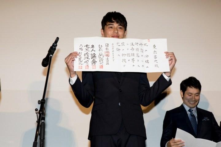 【写真】映画『聖の青春』公開初日舞台挨拶 (東出昌大)