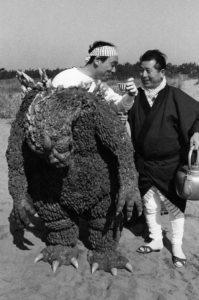 Godzilla com ator