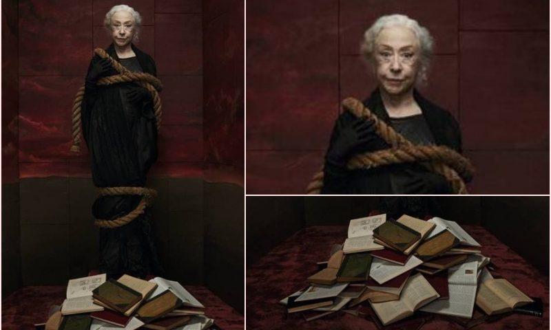 Fernanda Montenegro como Bruxa na revista Quatro Cinco Um