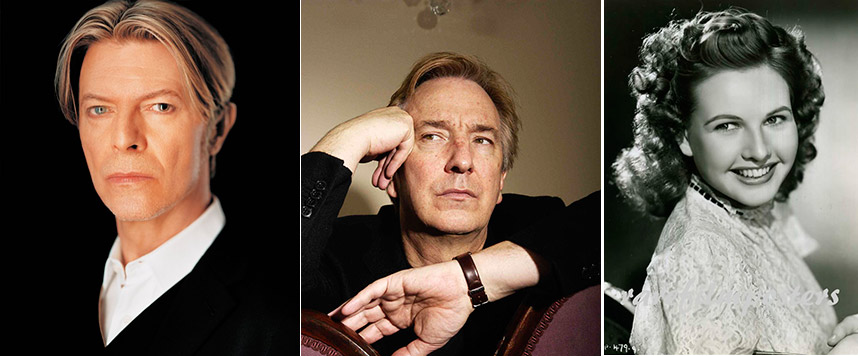 RIP David Bowie, Alan Rickman et Sheila Sim