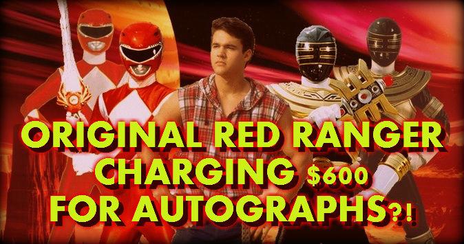 Original Red Ranger Austin St John Charging 600 For Autographs Cinema Deviant