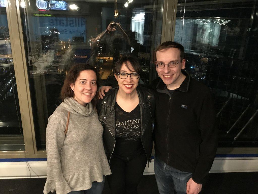 Cinema Femme founder Rebecca Martin, WGN host Patti Vasquez, and RogerEbert.com assistant editor Matt Fagerholm