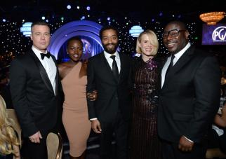 Brad Pitt, Lupita Nyong'o, Chiwetel Ejiofor, Sarah Paulson and Steve McQueen at the 25th annual Producers Guild of America Awards.