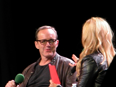 Clark Gregg with Clare Kramer panel