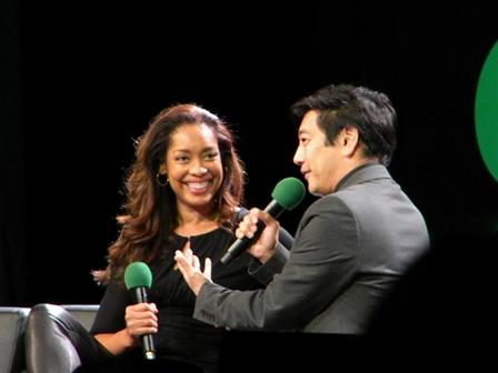Gina Torres Grant Imahara ECCC 2015