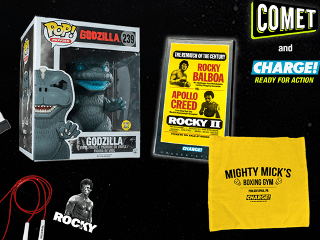 OVER Giveaway: COMET TV and CHARGE! – Space: 1999, Rocky, Godzilla, Funko Pop!