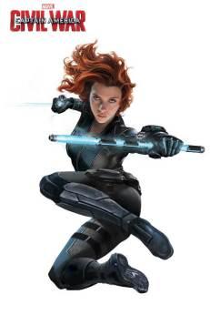 Marvel's Captain America Civil War Promo Art - Black Widow