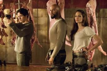 Angelina Jolie, James McAvoy, et Common dans Wanted (2008)
