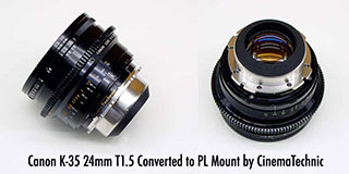 Canon K35 24mm T1.5 PL conversion by CinemaTechnic