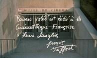 """""""Stolen Kisses is dedicated to Henri Langlois's Cinémathèque Française."""" -- François Truffaut"""