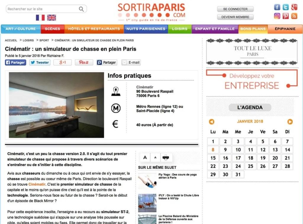 Cinématir - Un simulateur de chasse en plein Paris