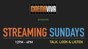 Streaming Sundays with filmmaker Horacio Jones