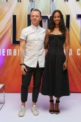 """MEXICO CITY, MEXICO - AUGUST 30: Actor Simon Pegg and actress Zoe Saldana attend a Photocall & Press Conference during the promotional tour of the Paramount Pictures title """"Star Trek Beyond"""" at the St. Regis Hotel on August 30, 2016 in Mexico City, Mexico. (Photo by Victor Chavez/Getty Images for Paramount Pictures) *** Local Caption *** Simon Pegg;Zoe Saldana"""