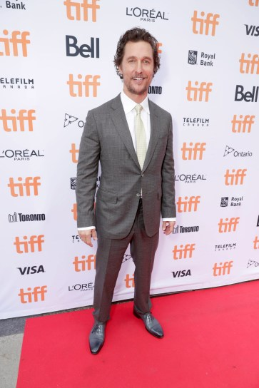 "Matthew McConaughey seen at Universal Pictures ""Sing"" at the 2016 Toronto International Film Festival on Sunday, Sept. 11, 2016, in Toronto. (Photo by Eric Charbonneau/Invision for Universal Pictures/AP Images)"
