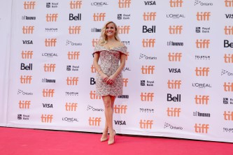 "Reese Witherspoon seen at Universal Pictures ""Sing"" at the 2016 Toronto International Film Festival on Sunday, Sept. 11, 2016, in Toronto. (Photo by Eric Charbonneau/Invision for Universal Pictures/AP Images)"