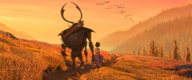 2700.0190.still.laika.0002 (l-r.) Beetle (voiced by Academy Award winner Matthew McConaughey), Kubo (Art Parkinson), and Monkey (Academy Award winner Charlize Theron) set off on a promising path in animation studio LAIKA's epic action-adventure KUBO AND THE TWO STRINGS, a Focus Features release. Credit: Laika Studios/Focus Features