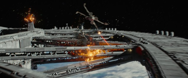 Rogue One: A Star Wars Story..X-Wings in battle..Ph: Film Frame..© 2016 Lucasfilm Ltd. All Rights Reserved.
