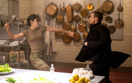 Left to right: Cobie Smulders plays Turner and Patrick Heusinger plays The Hunter in Jack Reacher: Never Go Back from Paramount Pictures and Skydance Productions