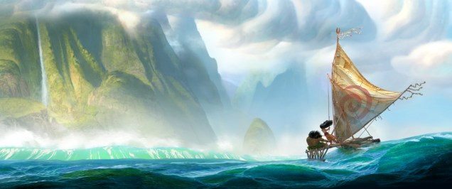 "From Walt Disney Animation Studios comes ""Moana,"" a sweeping, CG-animated comedy-adventure about a spirited teenager on an impossible mission to fulfill her ancestors' quest. A born navigator, Moana sets sail from the ancient South Pacific islands of Oceania in search of a fabled island. During her incredible journey, she teams up with her hero, the legendary demi-god Maui, to traverse the open ocean on an action-packed voyage, encountering enormous sea creatures, breathtaking underworlds and ancient folklore. Directed by the renowned filmmaking team of Ron Clements and John Musker (""The Little Mermaid,"" ""The Princess and the Frog,"" ""Aladdin""), ""Moana"" arrives in theaters in late 2016. ©2014 Disney. All Rights Reserved."