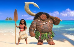 "In ""Moana,"" Walt Disney Animation Studios' upcoming big-screen adventure, a spirited teenager named Moana (left) sails out on a daring mission to prove herself a master wayfinder. Along the way, she meets once-mighty demi-god Maui (right). Featuring Native Hawaiian newcomer Auli'i Cravalho as the voice of Moana, and Dwayne Johnson as the voice of Maui, ""Moana"" sails into U.S. theaters on Nov. 23, 2016. ©2015 Disney. All Rights Reserved."