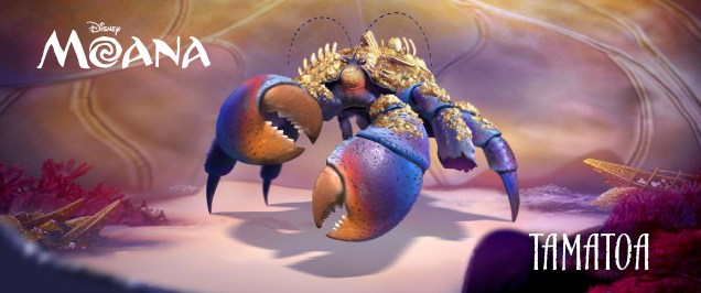 "JEMAINE CLEMENT (""The BFG,"" ""Despicable Me,"" ""Rio,"" ""Rio 2,"" ""What We Do in the Shadows,"" Flight of the Conchords) provides the voice of TAMATOA, a self-absorbed, 50-foot crab who lives in Lalotai, the realm of monsters. ©2016 Disney. All Rights Reserved."