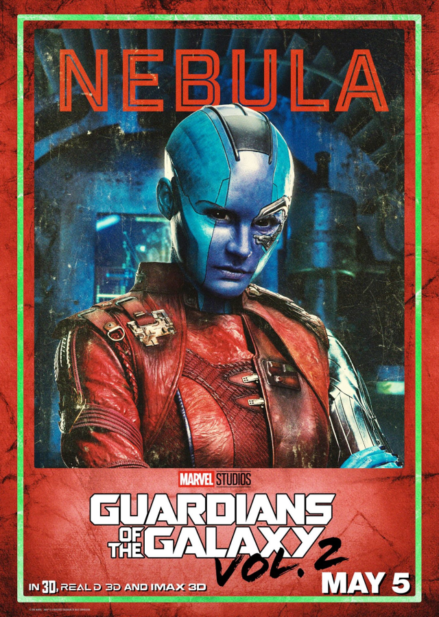 Guardians of the Galaxy Vol 2 - US Nebula Posters Personajes