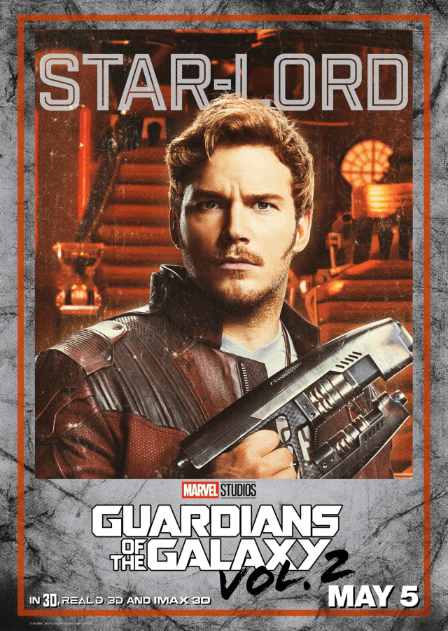Guardians of the Galaxy Vol 2 - US Star-Lord Posters Personajes