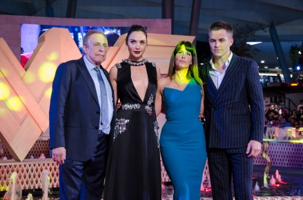 Chuck Roven, Gal Gadot, Patty Jenkins y Chris Pine