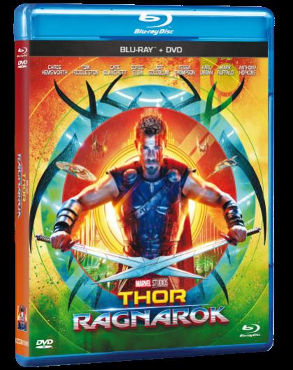 Blur-ray + DVD Thor Ragnarok