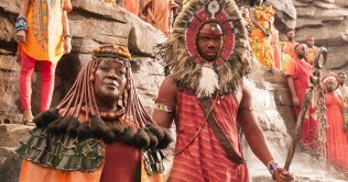 Marvel Studios' BLACK PANTHER Mining Tribe Elder (Connie Chiume) Ph: Film Frame ©Marvel Studios 2018