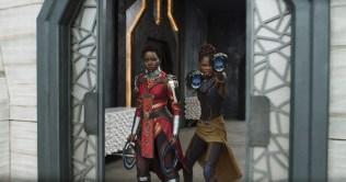 Marvel Studios' BLACK PANTHER L to R: Nakia (Lupita Nyong'o) and Shuri (Letitia Wright) Ph: Film Frame ©Marvel Studios 2018