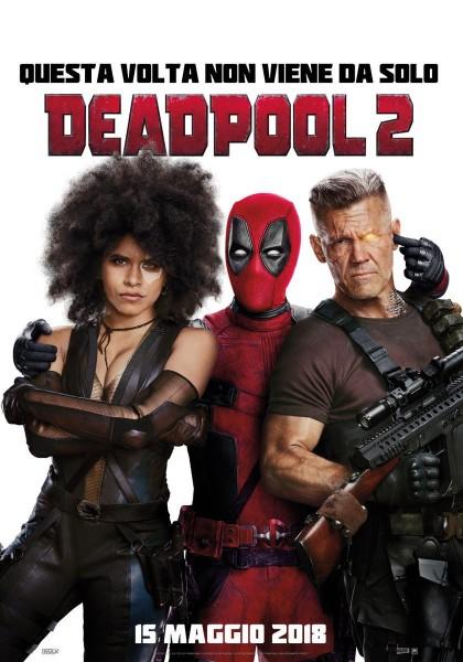 domino y cable en poster internacinal para deadpool 2