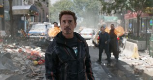 Marvel Studios' AVENGERS: INFINITY WAR..Tony Stark/Iron Man (Robert Downey Jr.) w/ Doctor Strange (Benedict Cumberbatch), Bruce Banner (Mark Ruffalo) and Wong (Benedict Wong) in the background L to R. ..Photo: Film Frame..©Marvel Studios 2018