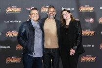 Joe Russo (Director), Mark Ruffalo (Bruce Banner/Hulk) and Victoria Alonso (Executive Producer) attend the Avengers: Infinity War fan event in Mexico City.