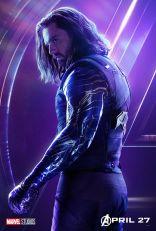 posters individuales avengers infinity war bucky barnes