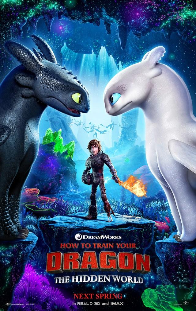 como entrenar a tu dragon 3 poster oficial sinopsis