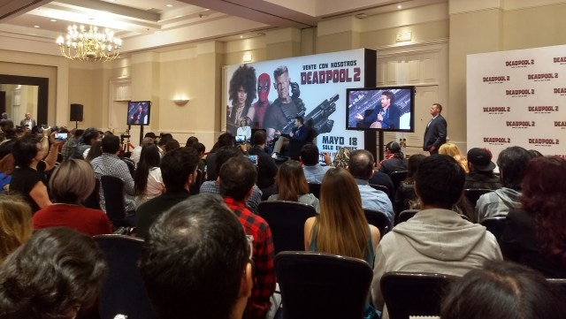 conferencia deadpool 2 mexico ryan reynolds