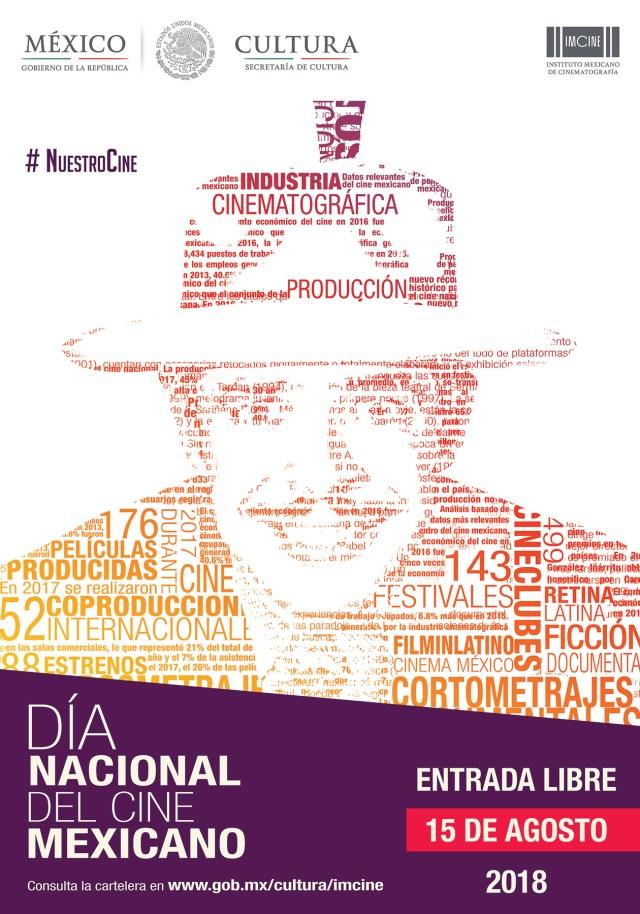 cartel dia nacional del cine mexicano 15 de agosto
