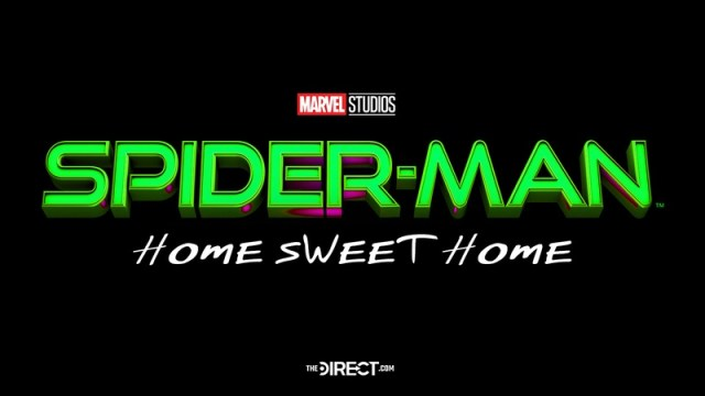 logo título spider man 3 home sweet home
