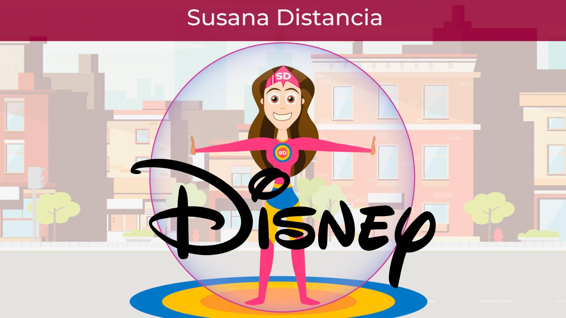 imagen de susana distancia con logo de disney