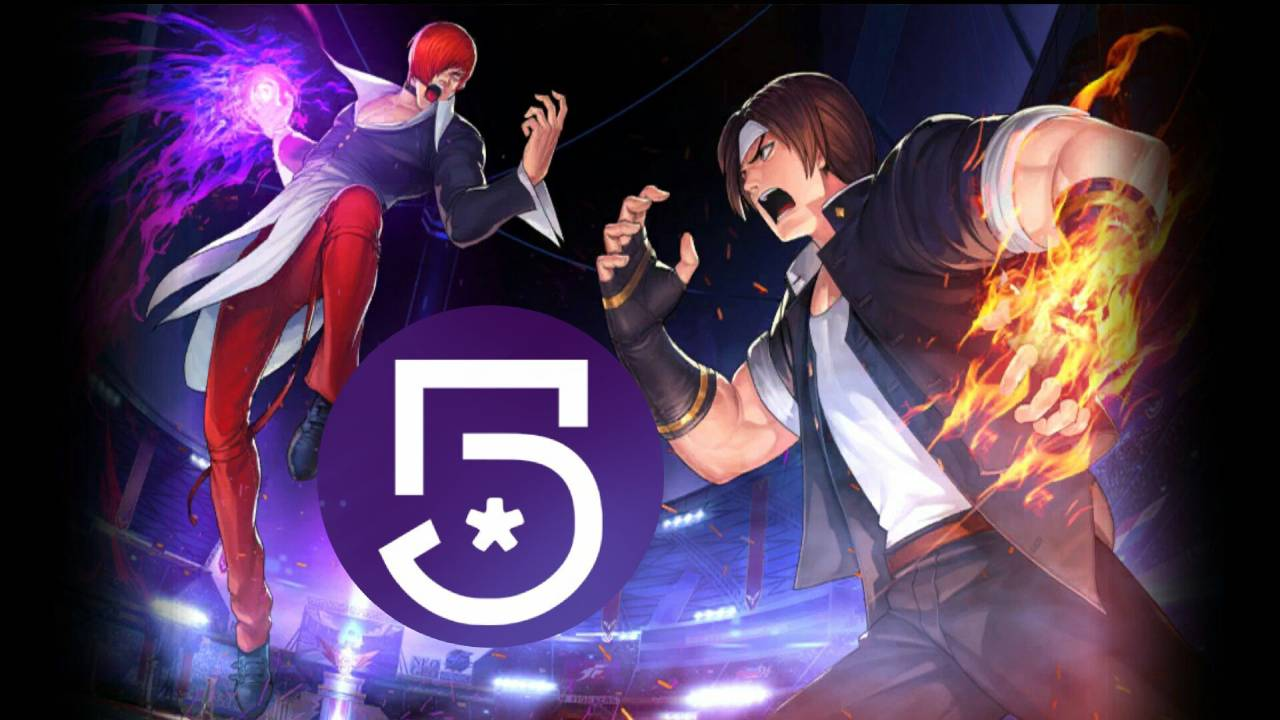 imagen del videojuego the king of fighters con logo de canal 5