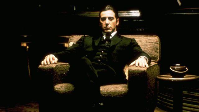 fotografía de al pacino como michael corleone en el padrino