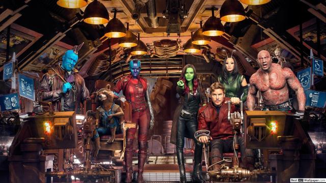 fotografía del elenco de guardianes de la galaxia
