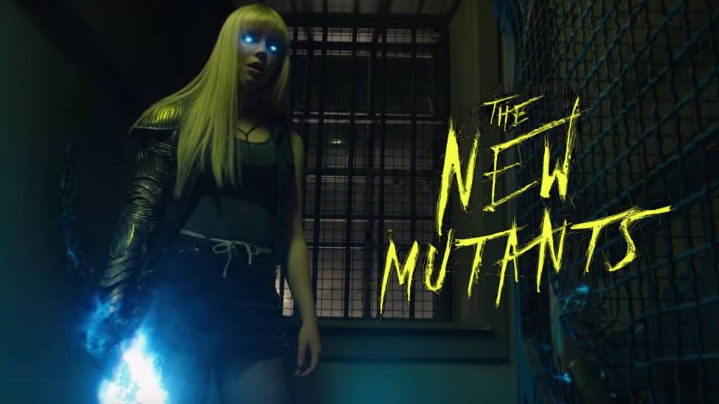 imagen de la película los nuevos mutantes con logo de the new mutants