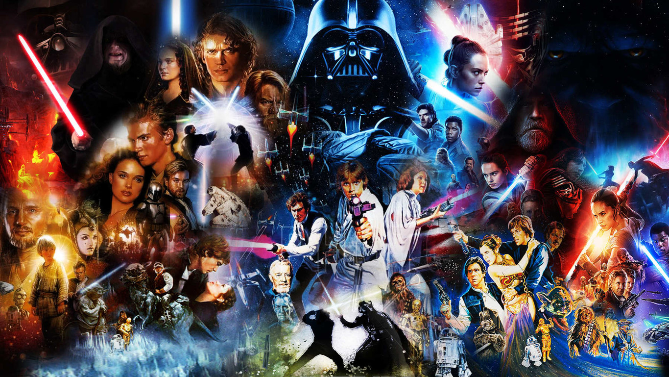 collage de películas de star wars